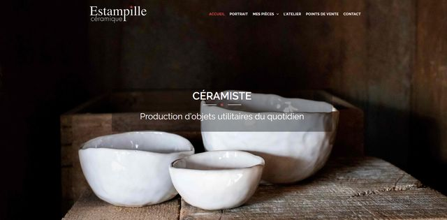 Site Internet d'Estampille céramique