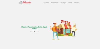 Image illustrant le site web de démo le restaurant pizzeria Alession