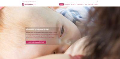 Image illustrant le site web Allaitement 77