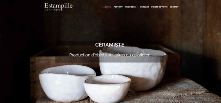Aperçu du site Internet d'Estampille céramique