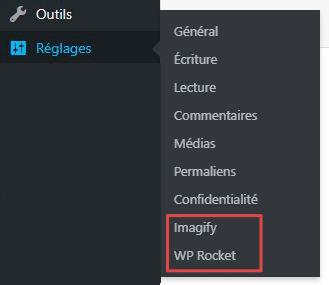 """Page d'administration d'une extension WordPress sous le menu """"Réglages"""""""