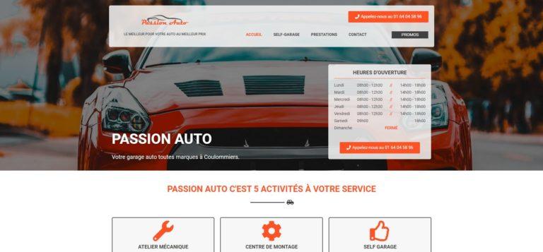 Aperçu du site Internet de Passion Auto