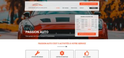 Image illustrant le site web passion-auto